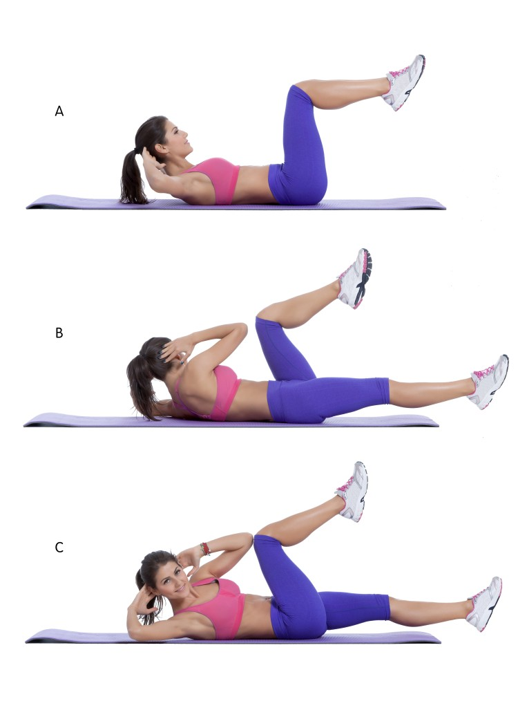 Elbow-to-knee-crunch