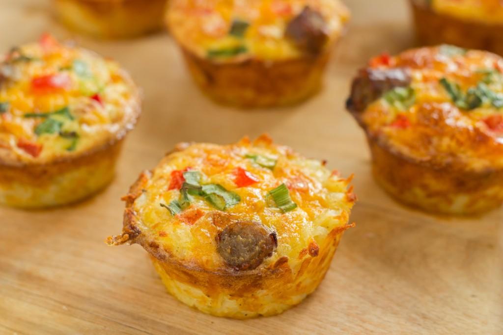 Gemuese und Ei Muffins