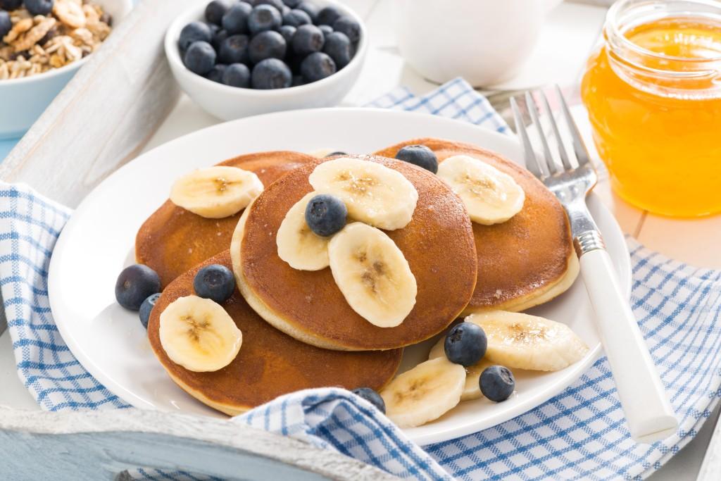Hafer-Pfannkuchen mit Bananen